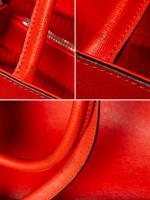 FENDI Vitello Elite Regular 2Jours Tote Poppy Red