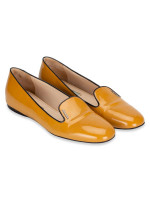 PRADA Patent Leather Loafers Mustard Sz 39