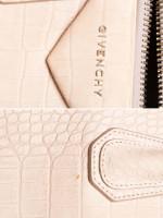 GIVENCHY Suede Croc Stamped Small Antigona Beige