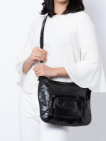 LONGCHAMP Patent Leather Legende Verni Crossbody Black