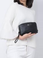 COACH 24797 Crossgrain Leather Cosmetic Case 20 Black