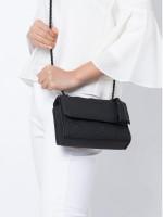 TORY BURCH Fleming Matte Small Convertible Shoulder Bag Black