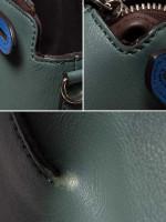 FENDI Tri-Color Mini By The Way Green Blue Brown