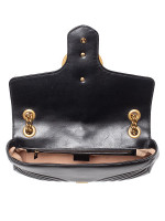 GUCCI GG Marmont Matelasse Medium Flap Bag Black