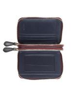 COACH 91618 Signature Blocked Small Double Zip Wallet Chalk Multi