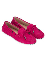 TOD'S Gommino Leather Driver Fuschia Sz 36