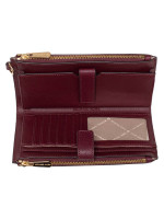 MICHAEL KORS Jet Set Travel Double Zip Wristlet Merlot