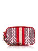 TORY BURCH Gemini Link Canvas Wristlet Liberty Red
