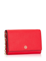 TORY BURCH Robinson Chain Wallet Brilliant Red