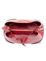 MICHAEL KORS Mercer Gallery Medium Convertible Bucket Bright Red