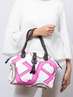 AIGNER Piccolina Signature Nylon Tote Pink White