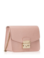 FURLA Metropolis Chain Shoulder Bag Moonstone Gold