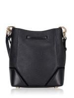 MICHAEL KORS Nicole Leather Small Bucket Bag Black
