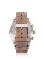 HUGO BOSS Men 1550021 Orange Amsterdam Leather Chronograph Watch Brown