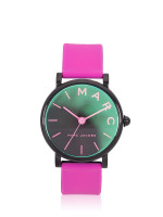 MARC JACOBS MJ1646 Classic Silicon Strap Watch Pink