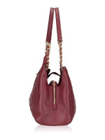 TORY BURCH Fleming Open Shoulder Bag Imperial Garnet