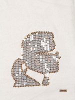 KARL LAGERFELD Sequin Accent Wool Scarf Ivory