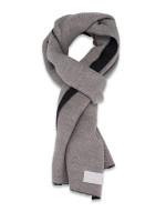 CALVIN KLEIN Pleated Double Faced Blanket Scarf Heathered Almond