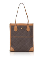 MICHAEL KORS Signature Bay Large Tote Brown Acorn