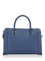 MCM Sophia Leather Bowler Bag Blue