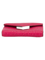 JIMMY CHOO Leonie Leather Wallet Pink