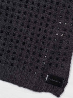 CALVIN KLEIN Studded Knit Scarf Heathered Charcoal