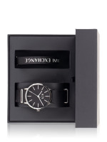 ARMANI EXCHANGE Men AX7111 Cayde Canvas Watch And Bracelet Set Black