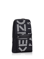 KENZO Men Crew Logo Nylon Sling Pack Black