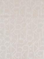 CALVIN KLEIN Signature Fray Trim Scarf Latte