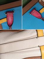 COACH 37694 Swagger 21 Colorblock Leather Azure Multi