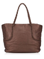 CHANEL Metallic Luxe Ligne Shopper Bronze