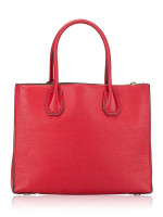 MICHAEL KORS Mercer Leather Large Tote Bright Red