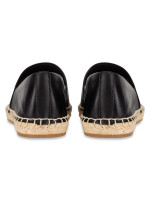 TORY BURCH Colorblock Mixed Leather Espadrille Perfect Black Sz 6.5