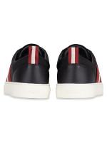 BALLY Men Hemon Leather Sneakers Black Sz 42