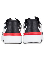 GIVENCHY Men Two-Toned Wing Leather Sneakers Noir Blanc Sz 42