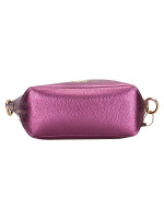 COACH 87691 Leather Mini Abby Duffle Metallic Berry