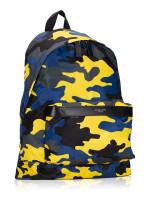 MICHAEL KORS Men Kent Nylon Backpack Indigo Lemon
