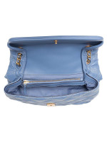 TORY BURCH Fleming Soft Contrast Stitch Convertible Shoulder Bag Bluewood Pancake