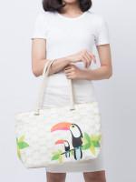 KATE SPADE Bow Tile Francis Toucan Baby Bag Cream Multi