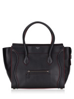CELINE Shoulder Luggage Black Bordeaux