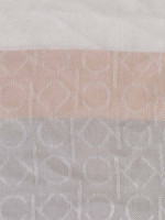 CALVIN KLEIN Colorblock Logo Pashmina Heathered Almond