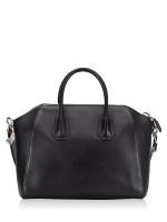 GIVENCHY Grained Leather Medium Antigona Black