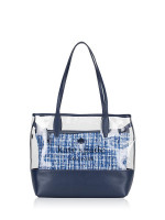 KATE SPADE Ash Large Triple Compartment See Through Tote Blue Multi