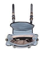 MICHAEL KORS Leila Nylon Small Flap Studded Backpack Pale Blue