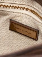 TORY BURCH Kira Chevron Top Handle Satchel Classic Taupe