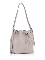 MICHAEL KORS Eden Leather Medium Bucket Bag Pearl Grey