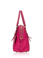 PRADA 1BB013 Tessuto Saffiano Satchel Ibisco Pink