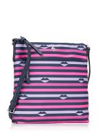 KATE SPADE Jae Nylon Lip Print Flat Crossbody Pink Multi