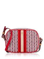 TORY BURCH Gemini Link Canvas Mini Bag Liberty Red
