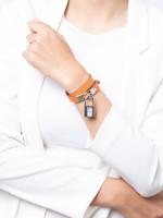HERMES Kelly Cadena Swift Double Tour Quartz Watch Orange